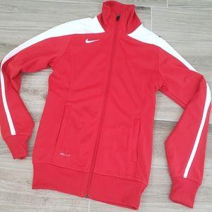 Nike Dri-fit red & white jacket sz XS